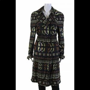 GUCCI Printed Elastic Waist Trench Coat